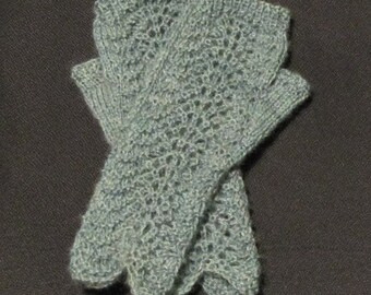 Alberni Elegance Fingerless Mitts Knit on 2 Needles PDF Pattern