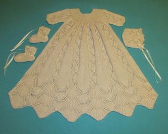 Dayflower Christening Set Knitting Pattern