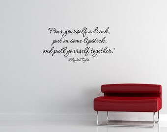 Red lipstick quote   Etsy