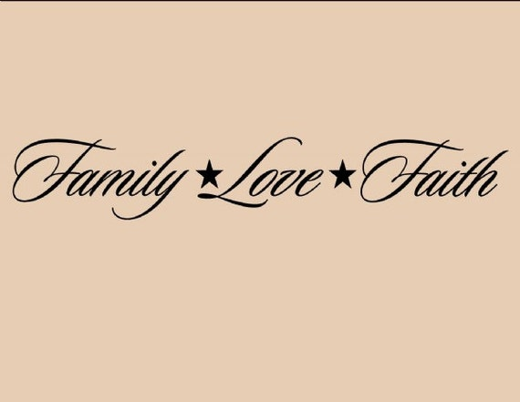 Winylu ściany Słowa Cytaty I Przysłowia 0234 Rodzina Miłość Etsy