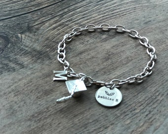925 Sterling Silver Charm Bracelet For The Special Graduate-Graduation Gift