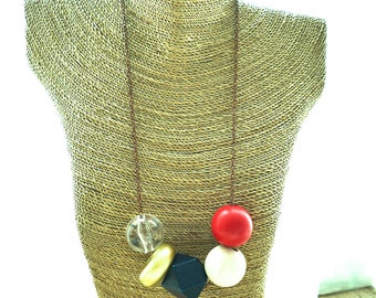 Chunky Bead Statement Necklace