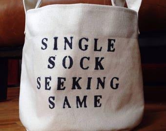Featured on the Today Show: Single socks solution laundry organization lost sock lone sock hamper bag bin