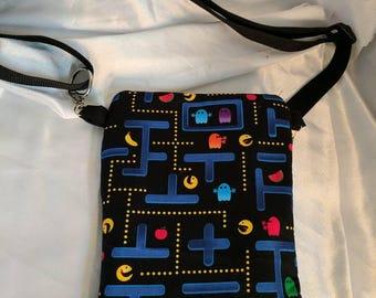 Pac-man Crossbody Bag, adjustable strap