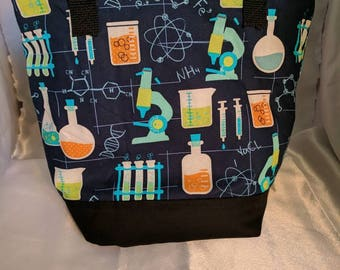 Chemistry print  Insulated Zip-up Lunch bag