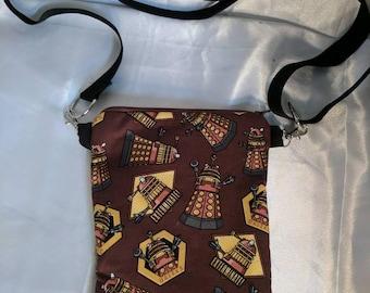 Dr. Who Dalek Crossbody Bag, adjustable strap