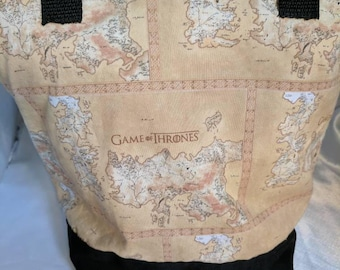 Map of Westeros Game of Thrones  Insulated Zip-up Lunch bag