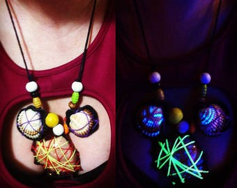 hippie dreams trio - gleamy natural necklaces -