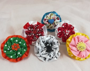 Cute colorful flower collar accessories