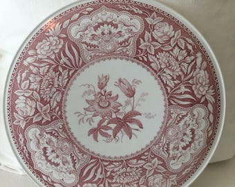 Spode Cake Plate Passion Flower ~ Pink