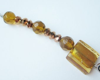 Amber Prayer Beads - Suncatcher or Purse Fob, Perfect Thank You Gift for Teacher, Co-Worker, Friends, Lamp or Fan Pull