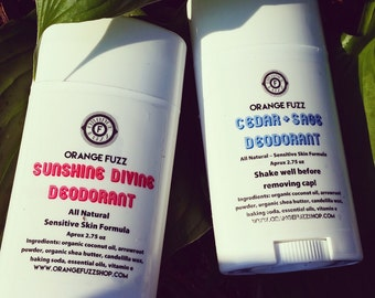 All Natural Solid Deodorant