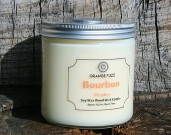 Soy Wax Wood Wick Candle 16oz - Choose Scent
