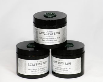Lava Your Face - Activated Charcoal Scrub and Mask