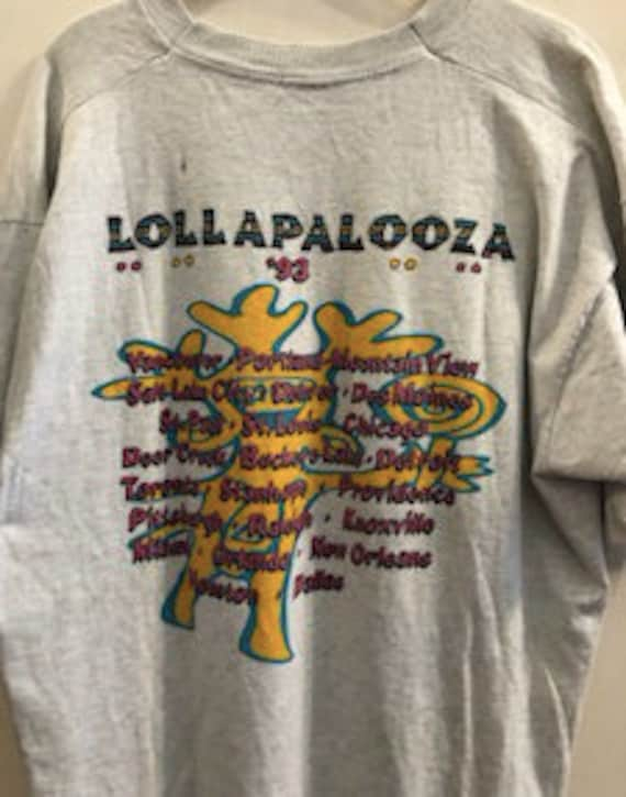 90s 1993 LOLLAPALOOZA Music Festival 2 T-Shirt Brand New Full Cotton