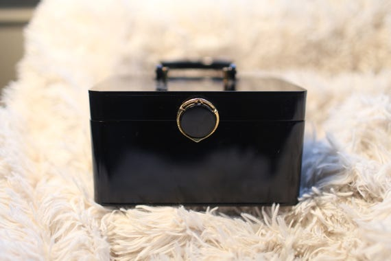 Vintage 1950s Black Box Purse