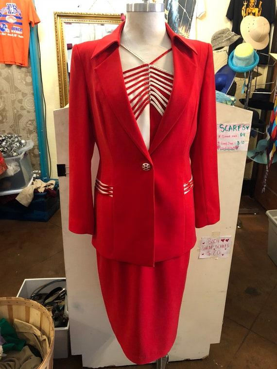 Lousie Ricci 1980's red suit