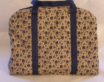 Carrying Bag for the Sizzix Big Shot Machine/ Country Blue Flower Print / Carrying Case / Die Cut Machine Carrying Case