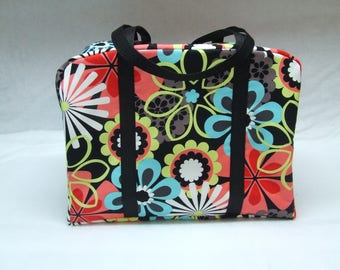 Sizzix Big Shot Tote / Sizzix Big Shot Carrying Case / Sizzix Big Shot Bag / Die Cut Machine Carrying Case / Large Retro Flower Print Fabric