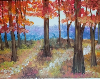 """Fall Trees 12"""" by 16"""""""