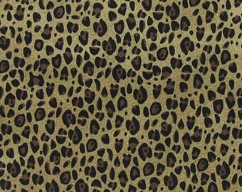 5175ddb653 Cheetah print fabric quilting apparel cotton Fat Quarter