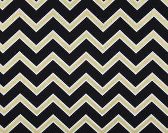 Black  gold  Chevron  Fabric   fat quarter quilting apparel fabric