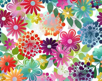 A Groovy Garden fabric, small floral,  In The Beginning fabric, cotton quilting sewing, 3AGG 1