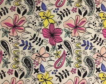 floral fabric Fat Quarter, 1/2 yard or by the yard quilting apparel  fabric cotton fabric