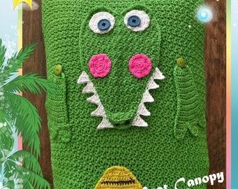 Alligator Car Seat Canopy Crochet Pattern PDF INSTANT DOWNLOAD