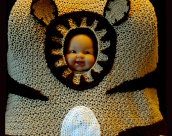 Put A Little Tiger In Your Tank Car Seat Canopy Crochet Pattern Instant Download PDF