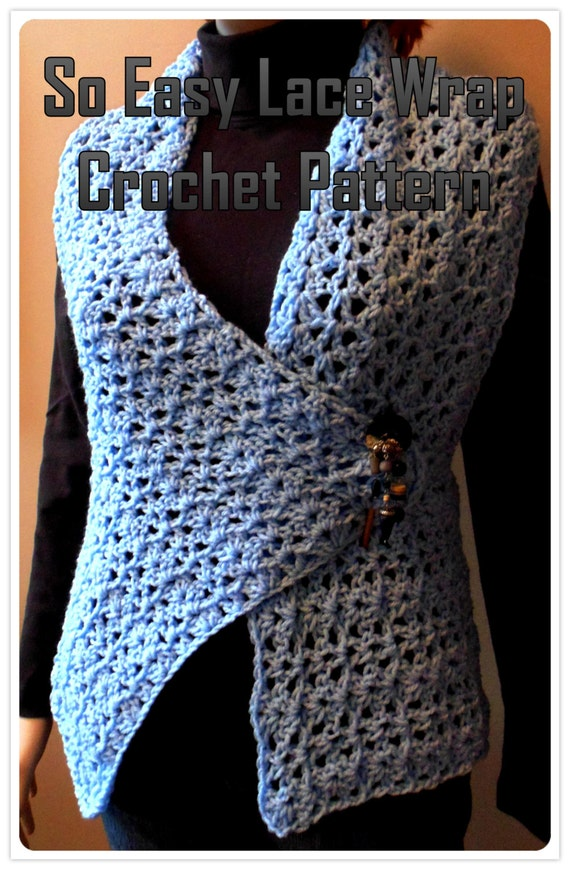 So Easy Lace Wrap Vest Crochet Pattern Pdf Instant Download Etsy