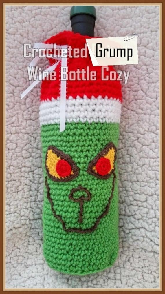 Crocheted Grump Wine Bottle Cozy Pattern Pdf Instant Download Etsy