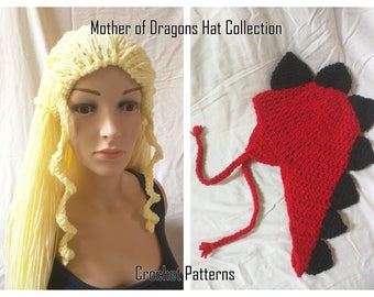 Mother of Dragons - Hats Crochet Patterns - Pdf Instant Download
