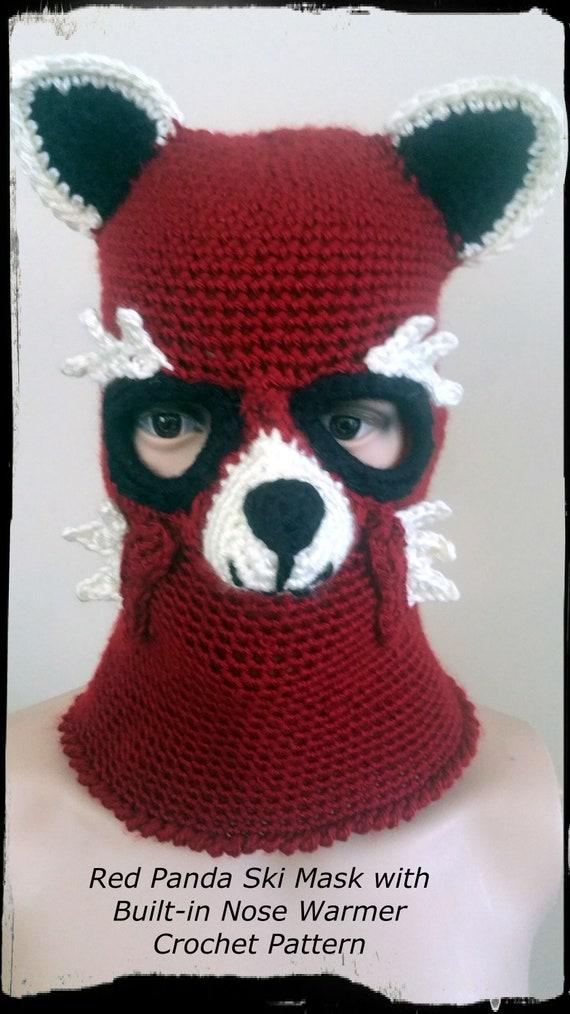 Red Panda Ski Mask Crochet Pattern Pdf Etsy
