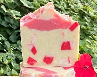 Garden Rose Shampoo Bar- Solid Shampoo Bar, Zero Waste,HUGE BAR- Natural Shampoo-Great Lather-All Vegetable