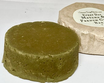French Green Clay Facial Mask-ZERO WASTE- all natural- for all skin types.