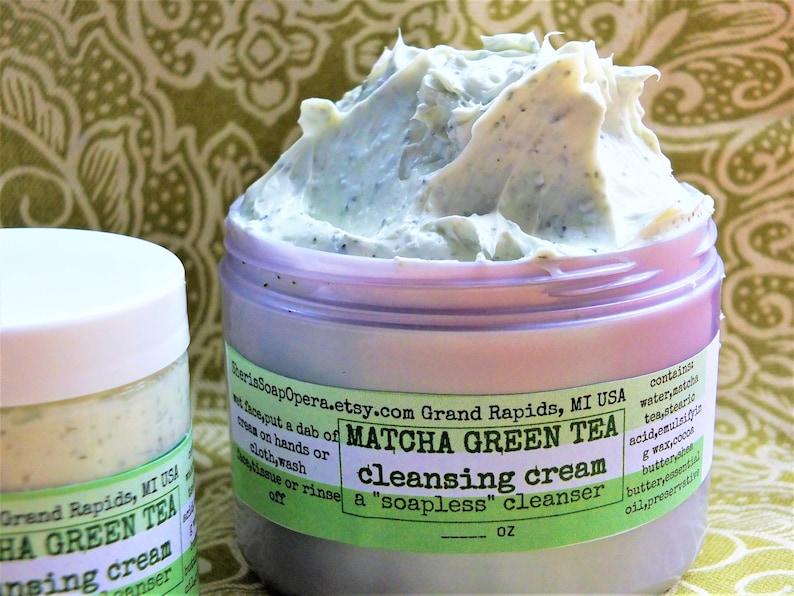 Matcha Green Tea Facial Cleaser-A Soapless Alternative-Great image 0