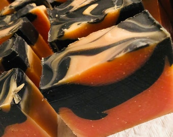 Cherry  and Charcoal Shampoo Bar- Solid Shampoo- ZERO WASTE-Great for Normal-Oily Hair-Vegan-No Sulfates!-Made Fresh