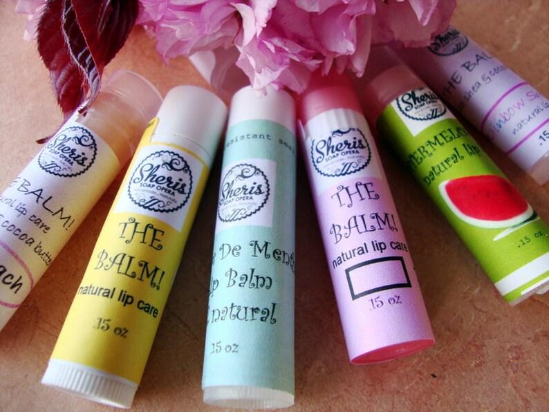 SALE-Bubblegum Lip Balm All Natural Beeswax Lip Balm image 0