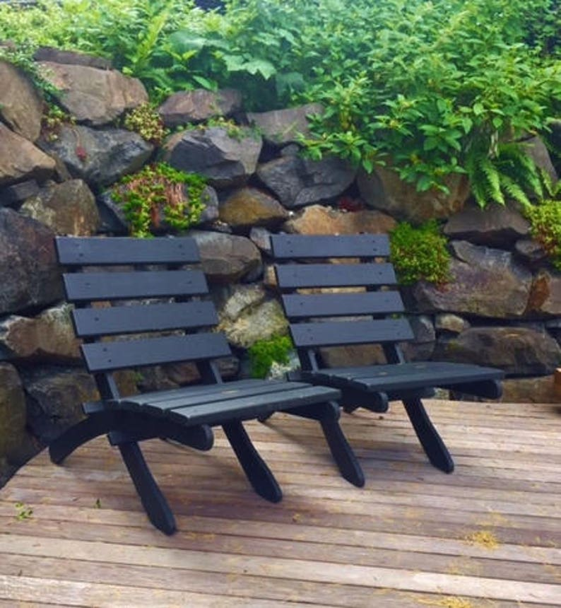 Slate Black Color on Classic Cedar Patio Chairs for Outdoor image 0