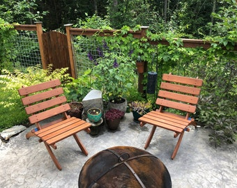 Classic Cedar Fire Pit Chairs - Choose from 10 Beautiful Colors! - Handcrafted Outdoor Furniture by Laughing Creek