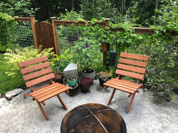 Fabulous Cedar Garden Chairs Choose From 16 Beautiful Colors Great Outdoor Furniture By Laughing Creek Machost Co Dining Chair Design Ideas Machostcouk