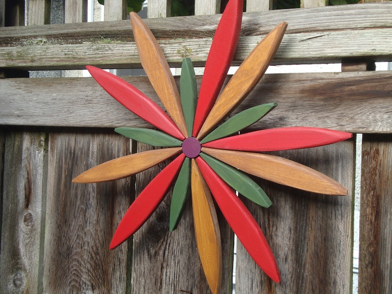 18 Starburst Spark Wall Art For Outdoor Decor Fence Entryway Garden Outdoor Wall Pine Wood Handcrafted By Laughing Creek