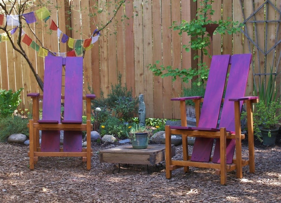 Peachy Colorful Two Color Lounge Chair For Garden And Deck Custom Outdoor Furniture By Laughing Creek This Chair Local Seattle Pickup Only Caraccident5 Cool Chair Designs And Ideas Caraccident5Info