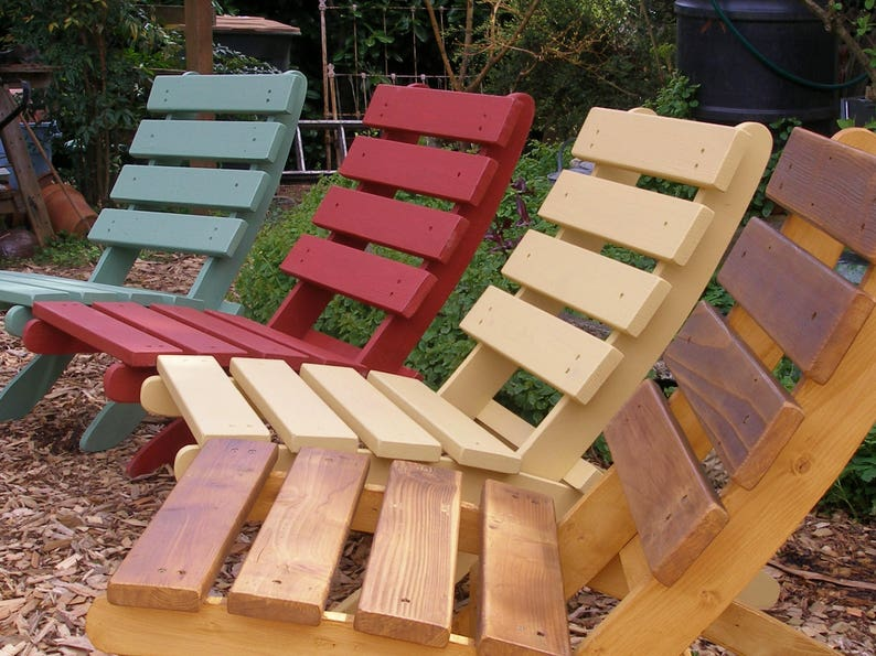 Colorful Classic Cedar Chairs - Yard, Deck, Firepit, Patio, Garden, Cabin,  Porch, Beach - 16 Colors to Choose - Laughing Creek