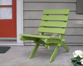 Classic Cedar Chair Stained Green - Comfortable - Colorful - Handcrafted Outdoor Furniture by Laughing Creek