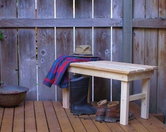 Garden Bench - 10 Stain Colors Available - Entryway Bench - Mud Bench - Garden Bench - Strong & Durable - Laughing Creek