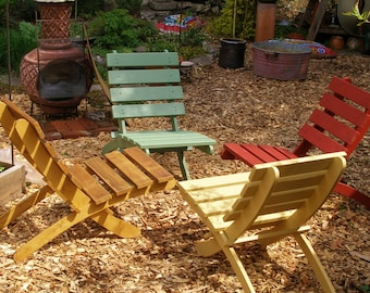 Great Outdoor Classic Cedar Chairs - Choice of 10 Colors - Outdoor Furniture - Firepit, Garden, Deck Chairs - Laughing Creek