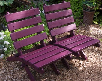 Classic Cedar Chairs (Eggplant) - For Garden & Patio - Handcrafted by Laughing Creek