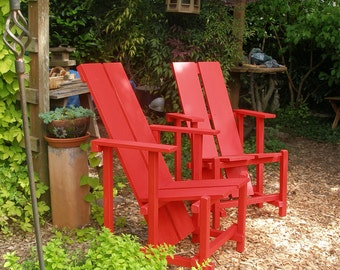 Lounge Chair - Unique Design - Comfy/Colorful - Garden, Patio, Deck - Local Seattle Pickup Only - 10 colors - Handcrafted by Laughing Creek